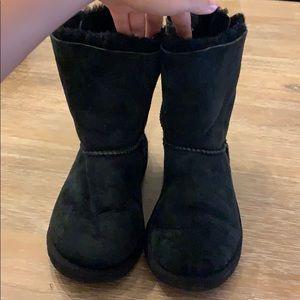 Black Ugg lace up back boots